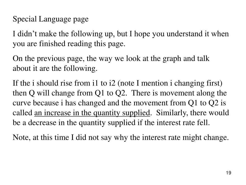 Special Language page