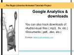google analytics downloads