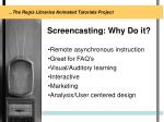 screencasting why do it