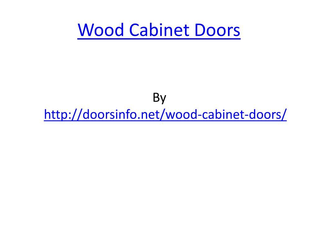 wood cabinet doors l.