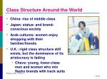 class structure around the world