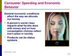 consumer spending and economic behavior