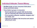 individual attitudes toward money