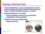 picking a pecking order
