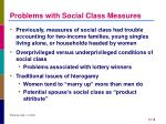 problems with social class measures