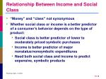 relationship between income and social class