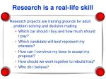 research is a real life skill