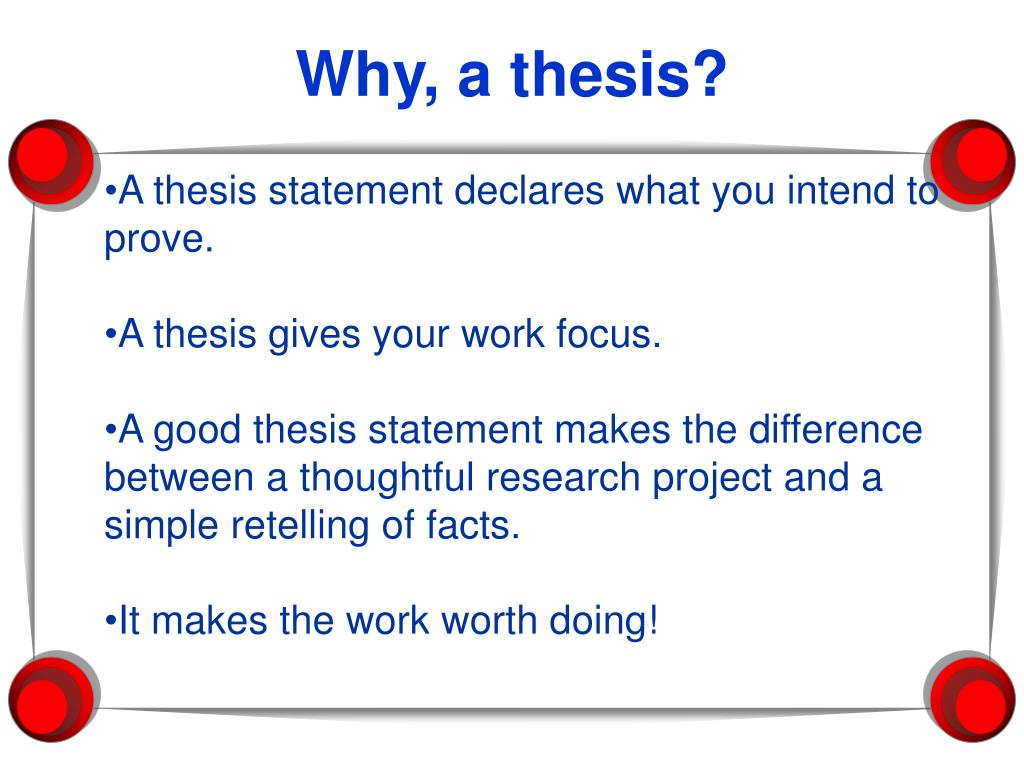what is declaration in thesis