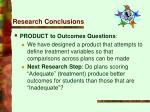 research conclusions28