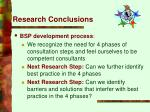 research conclusions29