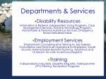 departments services