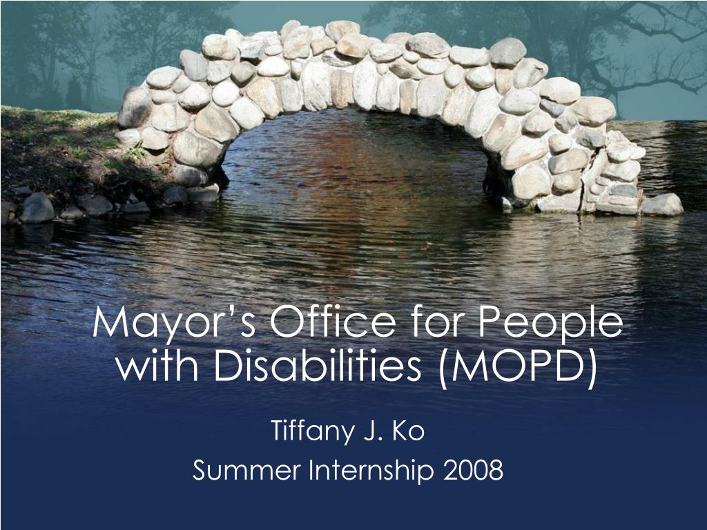 mayor s office for people with disabilities mopd l.