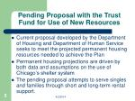 pending proposal with the trust fund for use of new resources