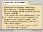 exceptions to the fourth amendment consent22
