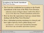 exceptions to the fourth amendment plain view doctrine