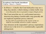 exceptions to the fourth amendment vehicles illinois v caballes