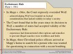 exclusionary rule mapp v ohio