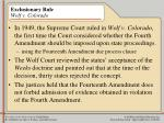 exclusionary rule wolf v colorado