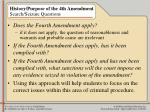 history purpose of the 4th amendment search seizure questions