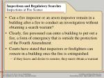 inspections and regulatory searches inspections at fire scenes