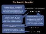 the quantity equation4