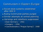 communism in eastern europe