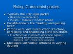 ruling communist parties