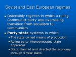 soviet and east european regimes