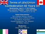 terms of dis union confederation 60 years on