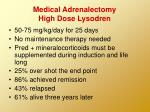 medical adrenalectomy high dose lysodren
