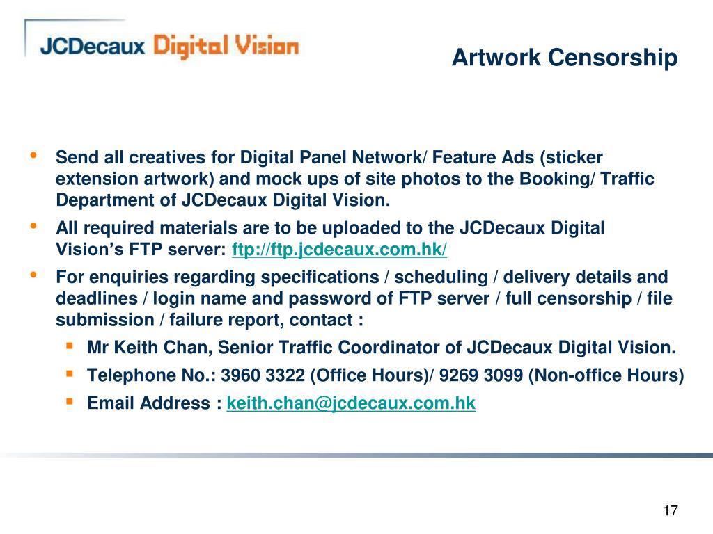 Artwork Censorship
