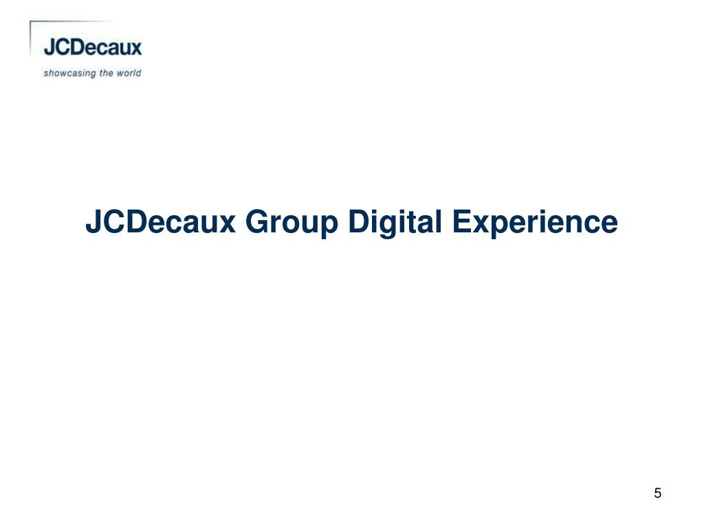 JCDecaux Group Digital Experience