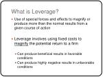 what is leverage