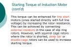 starting torque of induction motor cont d
