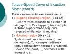 torque speed curve of induction motor cont d