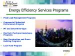 energy efficiency services programs