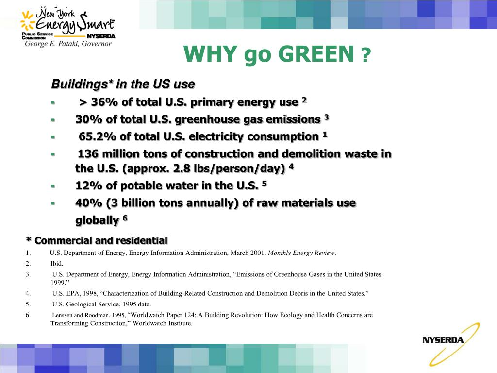 WHY go GREEN