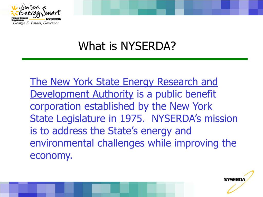 The New York State Energy Research and Development Authority