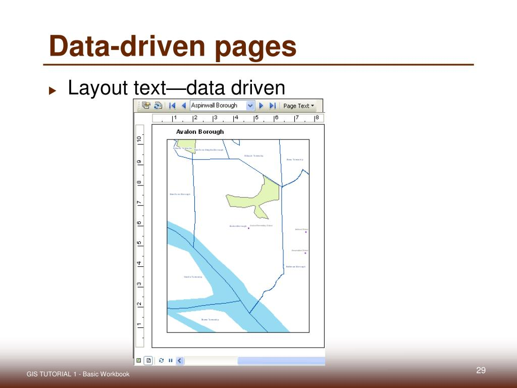 Data-driven pages