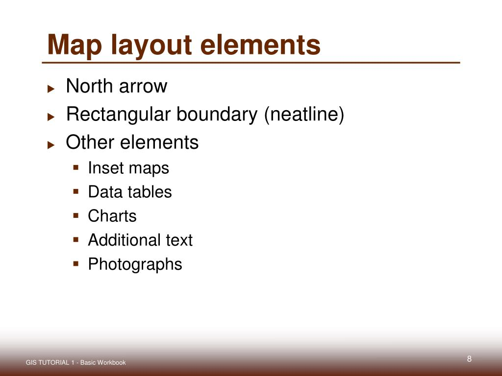 Map layout elements