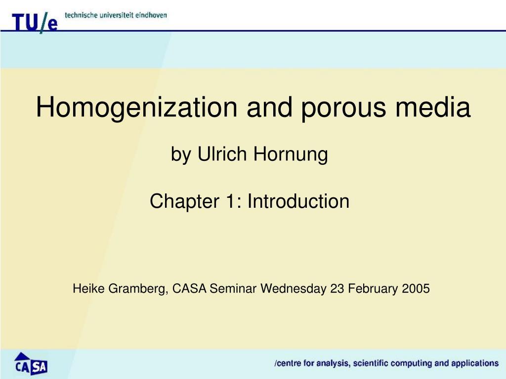 homogeni z ation and porous media l.
