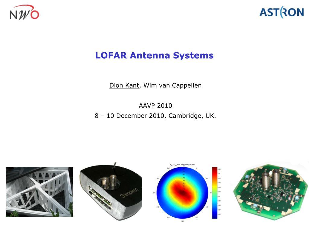lofar antenna systems l.
