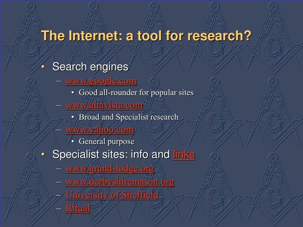 The Internet: a tool for research?