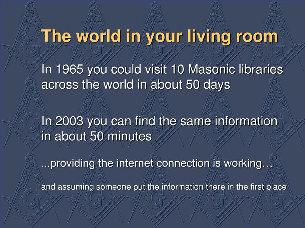 The world in your living room