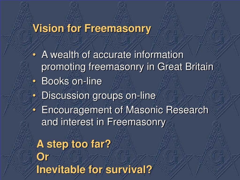Vision for Freemasonry