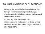 equilibrium in the open economy15