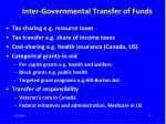 inter governmental transfer of funds