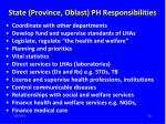 state province oblast ph responsibilities