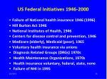 us federal initiatives 1946 2000