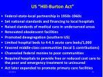 us hill burton act